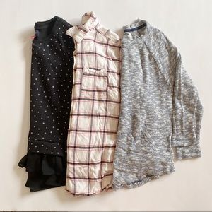 Old Navy 3 Piece Girls Tops Lot Size 14 XL